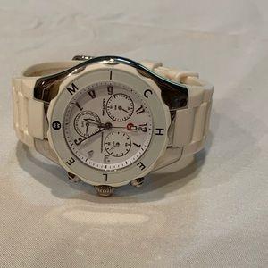 Like new Michele white jelly watch